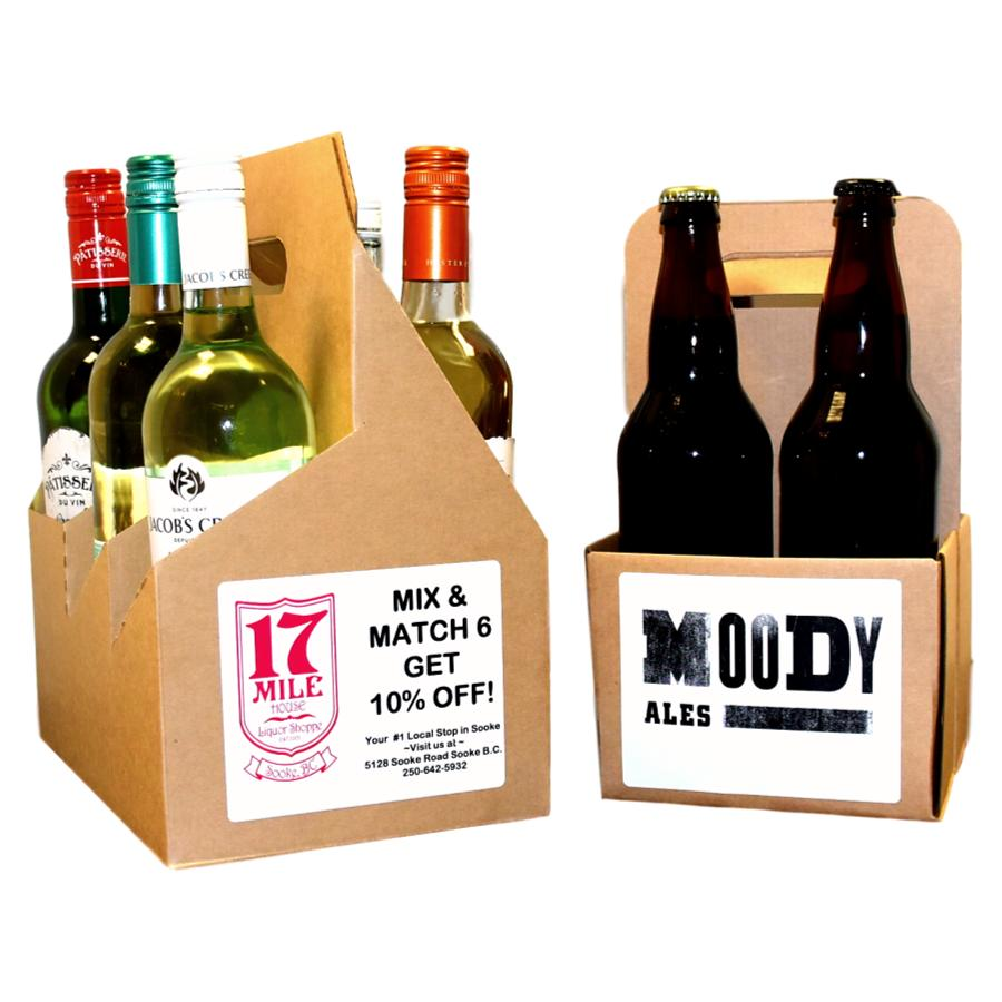 RECYCLABLE 4 & 6 PACK BOXES with FREE LABELS