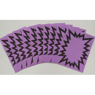 large purple starbursts