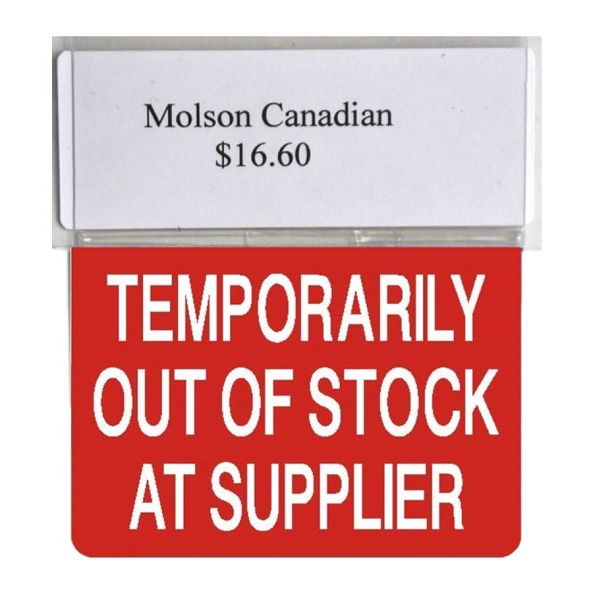 TEMP OUT OF STOCK AT SUPPLIER RE-USABLE PROMO TAG