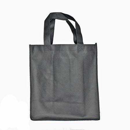 REUSABLE 6 BOTTLE CLOTH BAGS WITH COLLAPSIBLE DIVIDERS-GREY PLAIN100/CASE