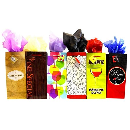 BG-01-2 FUN WINO 6 ASSORTED BOTTLE GIFT BAGS