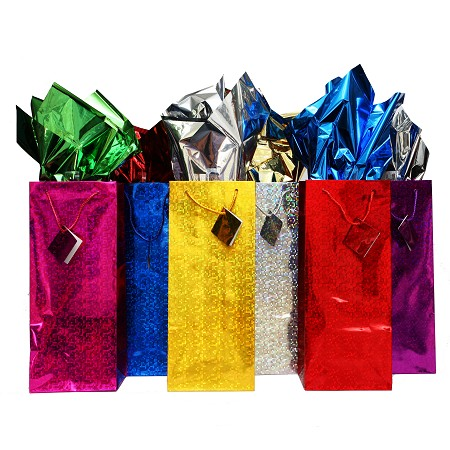 BG-08-2 6 Colours Double Bottle Metallic Gift Bags