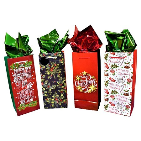 BG-49 Merry Christmas Festive Bottle Bag & Order Form