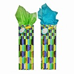 BG-67-1 Radiant Green with Gold Foil Stamp Bottle Gift Bags