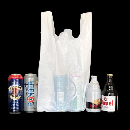 HDPE Plastic Convenience Store T Shirt  Bag -14 Mic