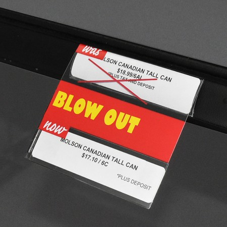 DOUBLE BLOW OUT REUSABLE PROMO TAG-NO ARROW 4""
