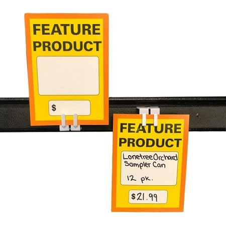 "FEATURE PRODUCT SIGN-MEDIUM 3 1/4"" X 4 1/2""  5 pt gloss"