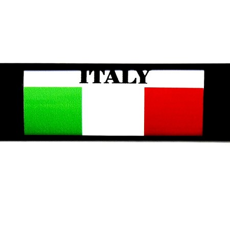 RE-USABLE SLIDE IN FLAG ITALY