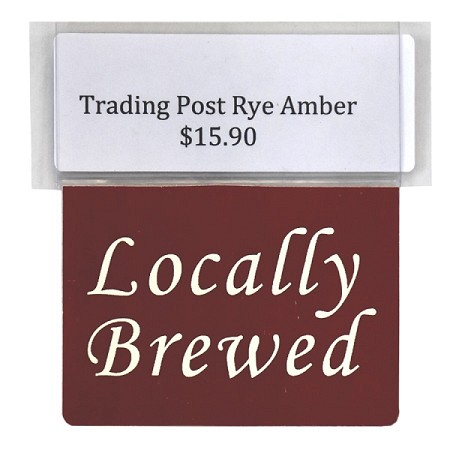 LOCALLY BREWED RE-USABLE PROMO TAG