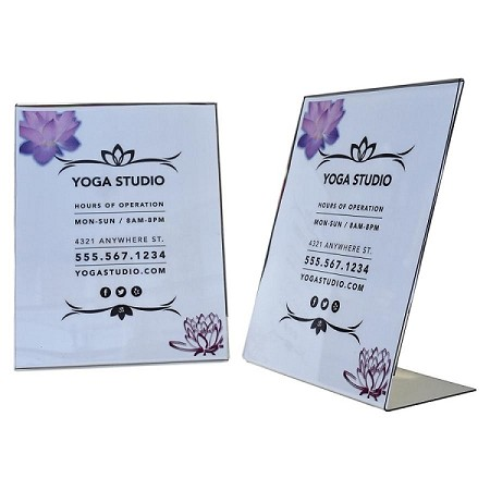 "8 1/2"" x 11"" Table Top Sign Holder L Shaped"