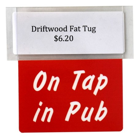 ON TAP IN PUB RE-USABLE PROMO TAG