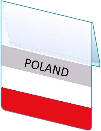 RE-USABLE PROMO FLAG POLAND