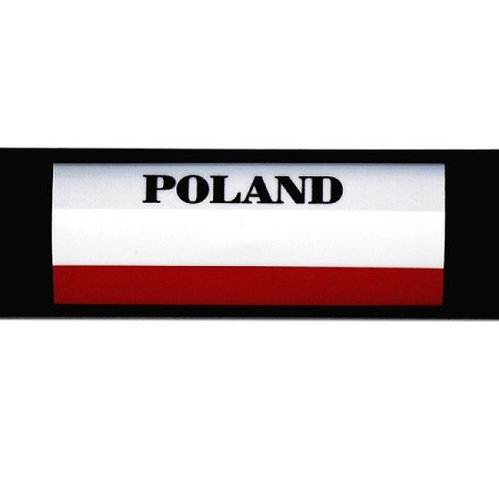 RE-USABLE SLIDE IN FLAG POLAND