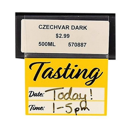 TASTING RE-USABLE PROMO TAG- DATE/TIME