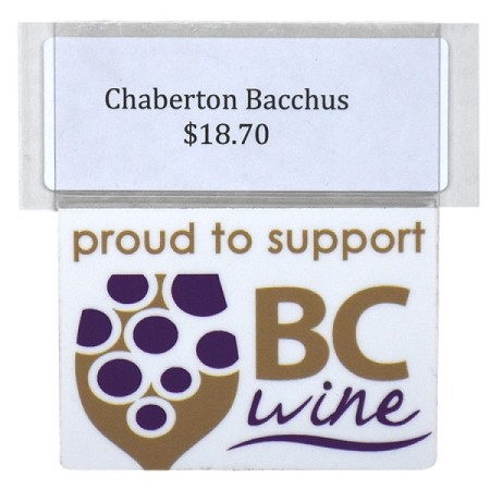 SUPPORT BC WINE RE-USABLE PROMO TAG
