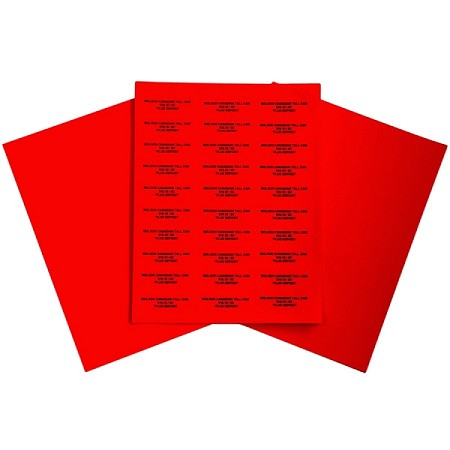 Easy Peel Labels-R- 2 5/8 x 1 Red-100 sheets  (3000 labels)
