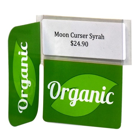 ORGANIC REUSABLE PROMO TAG WITH RIGHT ANGLE