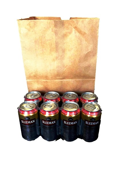 Recycled 8 Pack/Take Out Paper Bottle Bags