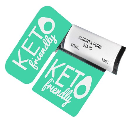 KETO FRIENDLY RE-USABLE PROMO TAG WITH RIGHT ANGLE