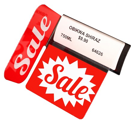SALE REUSABLE PROMO TAG WITH RIGHT ANGLE