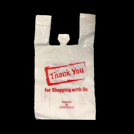 Biodegradable Plastic Thank You Bags