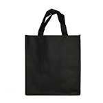 REUSABLE 6  BOTTLE CLOTH BAGS WITH LARGE 1.5/1.15 COLLAPSIBLE DIVIDERS-PLAIN BLACK 100/CASE