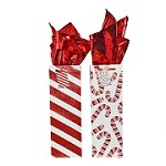 BG-38-1 Candy Cane Lane with Sparkling Glitter Bottle Gift Bags