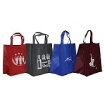 REUSABLE 6 BOTTLE CLOTH BAGS WITH COLLAPSIBLE DIVIDERS-MIX-1