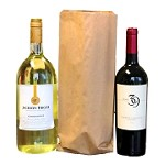 1.5 Litre Recycled Kraft Paper Bottle Bags