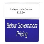 BELOW GOVERNMENT PRICING RE-USABLE PROMO TAG