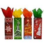 BG-55-1 Assorted Trees and Snowflakes Bottle Gift Bags