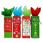 BG-61-1 Assorted Funny Sayings Holiday Cheer Bottle Gift Bags