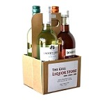 Recycled and Recyclable 4 pack Bomber/Wine Box with FREE Branded Labels