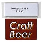 CRAFT BEER RE-USABLE PROMO TAG