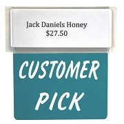 Customer Pick Reusable Promo Tag