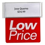 LOW PRICE RE-USABLE PROMO TAG