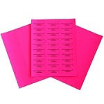 Easy Peel Labels-P-2 5/8 x 1  Pink 100 sheets (3000 labels)