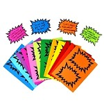 MEDIUM STARBURSTS RAINBOW PACK- 3 SIZES &15 COLOURS  NO BLACK