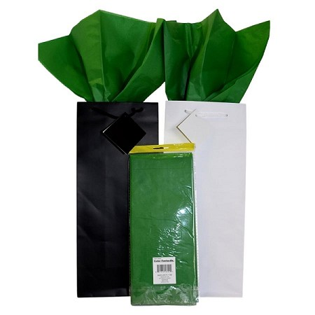 "BAG-Tissue Paper-Forest Green  20"" x 20"""