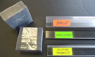 LABEL INSERTS/PLASTIC BACKINGS